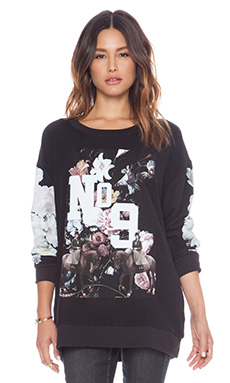 Wildfox Couture England College Pullover in Jet Black