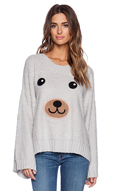 Wildfox Couture Teddy Bear Sweater in Smoky Bear