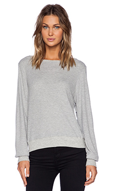 Wildfox Couture Baggy Thermal in Heather Grey