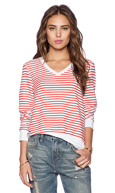 Wildfox Couture Vintage Varsity Stripe Top in Hot Lipstick Stripe