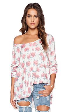 Wildfox Couture Gypsy Roses Pullover in Multi Colored