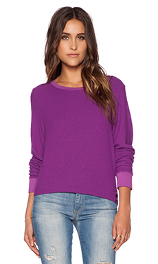 Wildfox Couture Long Sleeve Basic Pullover in Magic Poly