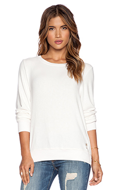 Wildfox Couture Long Sleeve Basic Pullover in Vintage Lace