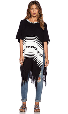 Wildfox Couture Frida Poncho in Clean Black