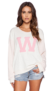 Wildfox Couture Cheer Squad Pullover in Vintage Lace