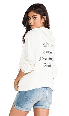 Wildfox Couture Adventure List Malibu Hoodie in Vintage Lace