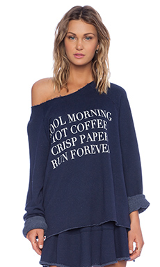 Wildfox Couture Foxercise Run Forever Sweatshirt in Oxford