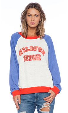 Wildfox Couture Wildfox High Sweatshirt in Vintage Lace