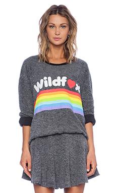 Wildfox Couture Dreams Come True Sweatshirt in Clean Black