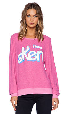 Wildfox Couture I Love Ken Sweatshirt in Pink Corvette
