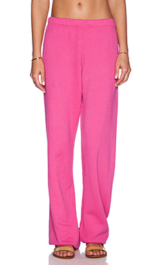 Wildfox Couture 70's Wildfox Sweatpant in Pink Corvette