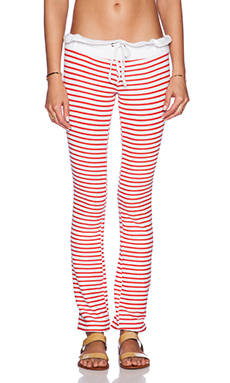 Wildfox Couture Vintage Varsity Stripe Sweatpant in Hot Lipstick Stripe