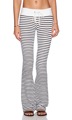 Wildfox Couture Vintage Varsity Stripe Sweatpant in Black Stripe