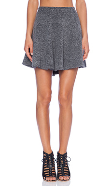 Wildfox Couture Chenille Wildfox Skirt in Clean Black