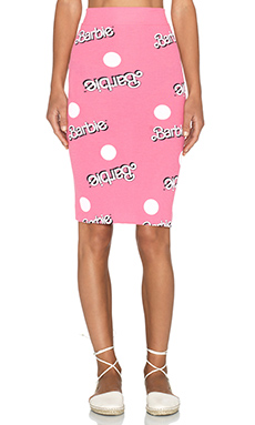 Wildfox Couture Skipper Everywhere Barbie Skirt in Dusty Pink
