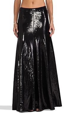 Wildfox Couture Cecilia Sequin Maxi Skirt in Black