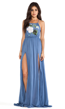 Wildfox Couture Hibiscus Pink Gigi Gown in Night Run