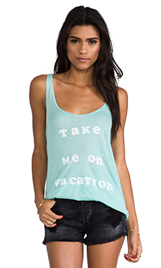 Wildfox Couture 70's Vacation Tank in Aqua Sky