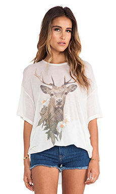 Wildfox Couture Forest Friend Tee in Vintage Lace