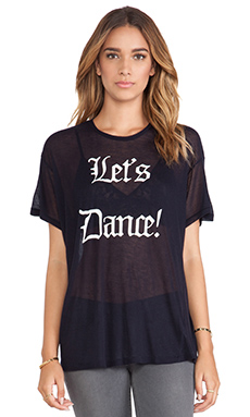 Wildfox Couture Let's Dance Tee in Oxford
