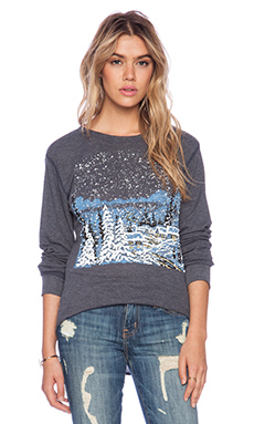 Wildfox Couture Cozy Cabin Long Sleeve in Oxford