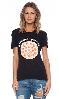 Wildfox Couture Gimme Pizza Tee in Clean Black