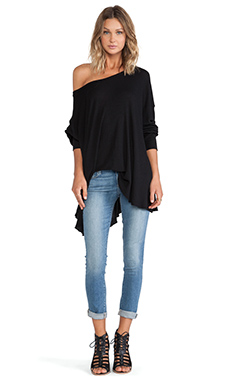 Wildfox Couture Effortless Thermal in Jet Black