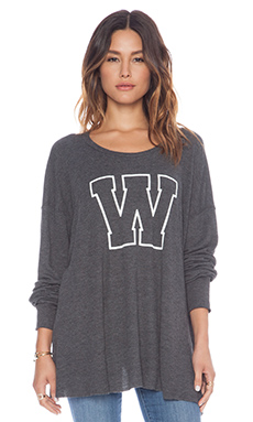 Wildfox Couture Simply Sporty Long Sleeve in Clean Black
