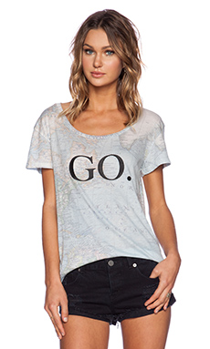 Wildfox Couture Just Go Tee in Multi Colored