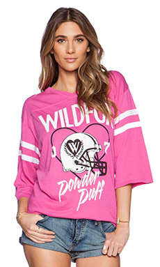 Wildfox Couture Powder Puff Graphic Tee in Pink Corvette