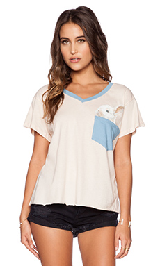 Wildfox Couture Pocket Bun Tee in Pink Wood