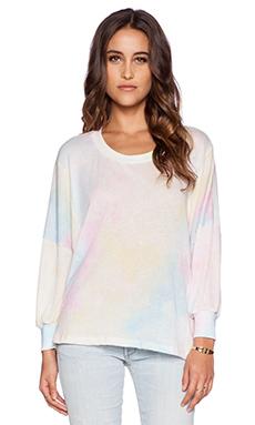 Wildfox Couture Dream Tie Dye Top in Multi Colored