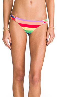 Wildfox Couture Reve Criss-Cross Brazilian in 70's Rainbow