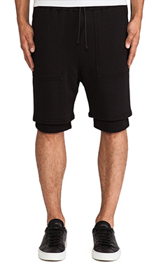 Wil Fry Double Layered Basketball Short in Black