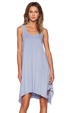 Wilt Slub Jersey Flutter Tank Dress in Distressed Perry