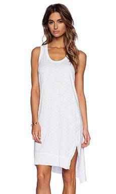 Wilt Slim Slit Tank Dress in White
