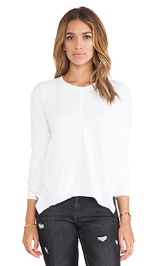 Wilt French Terry Mixed Slouchy Sweatshirt in White