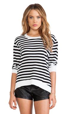 Wilt Shrunken Sweatshirt in Black & White