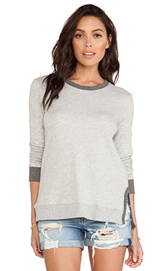 Wilt French Terry Color Mix Baby Vented Sweatshirt in Grey & Charcoal