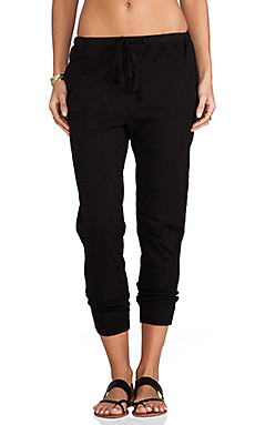 Wilt Crop Sweatpant in Black