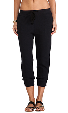 Wilt Vintage French Terry Slouchy Sweatpant in Standard Black