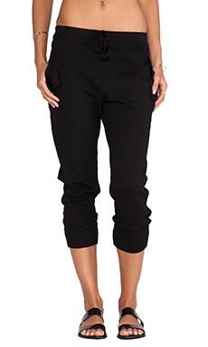 Wilt Slub Crop Pocket Pant in Black