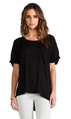 Wilt Short Sleeve Roll Cuff Tee in Standard Black