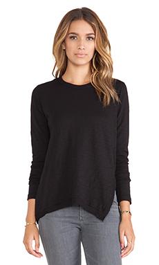 Wilt Slub Asymmetrical Slouchy Tunic in Black