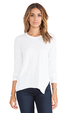 Wilt Slub Asymmetrical Slouchy Tunic in White