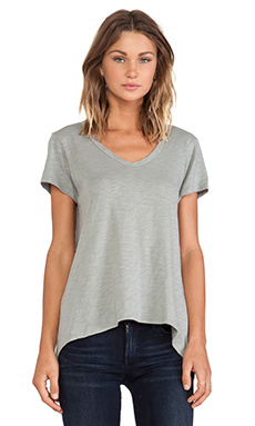 Wilt Slub Jersey Short Sleeve Shrunken Boyfriend Tee in Patina