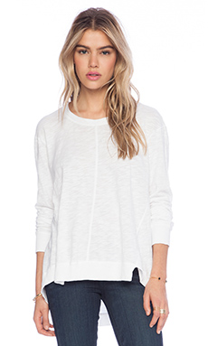 SLUB LONG SLEEVE PANELLED HI-LO