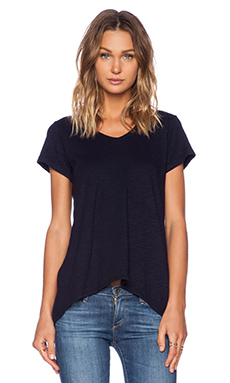 Wilt Slub Basics Shrunken Boyfriend Short Sleeve in Blue Night