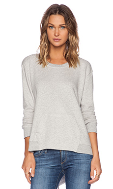 Wilt French Terry Pocket Sweatshirt in Gray Heather