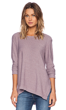 Wilt Heather Jersey Asymmetrical Slouchy Tunic in Dirty Lilac